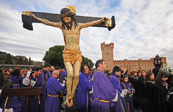 Cristo crucificado en Medina del Campo