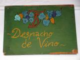 Venta de vino. Cartel tradicional