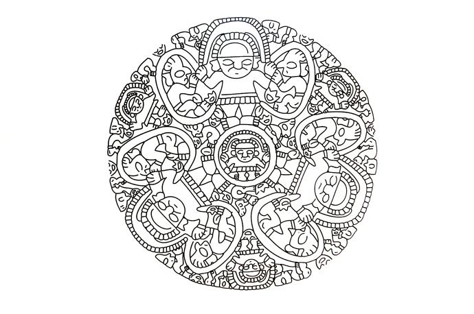 Escena de recolección de moluscos sagrados o mullu (Spondilus sp.) Chimú 1100 a 1470 d.c