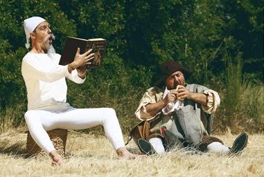 Don Quijote (Óscar Chamorro) y Sancho Panza (Javier Losán) dan el pregón inaugural.